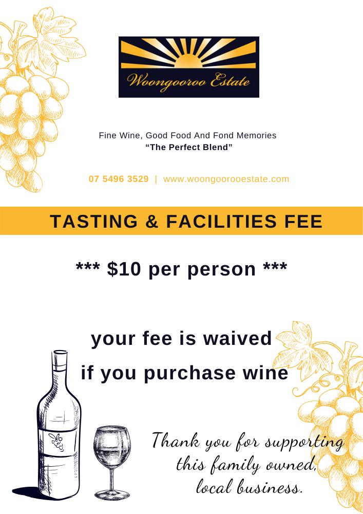WEW - Tasting & Facilities Fee Poster